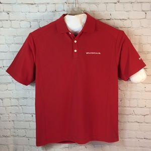 NWT Nike Golf red company polo shirt